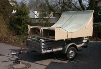 Transport des Dachelemts